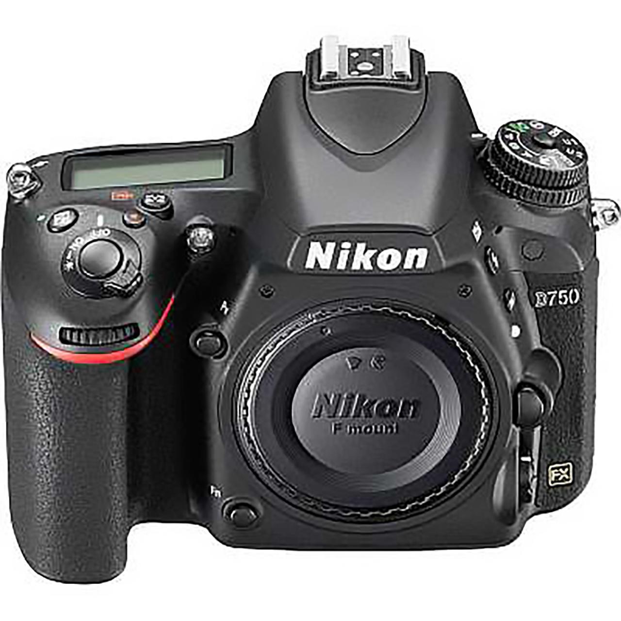 Nikon D750 DSLR camera view