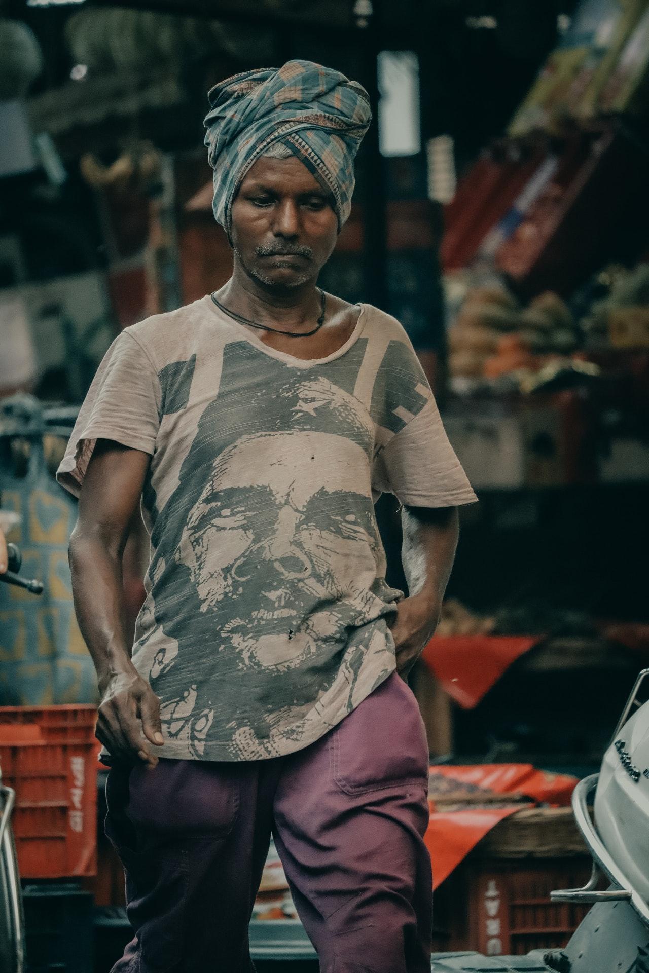 Man walking the streets