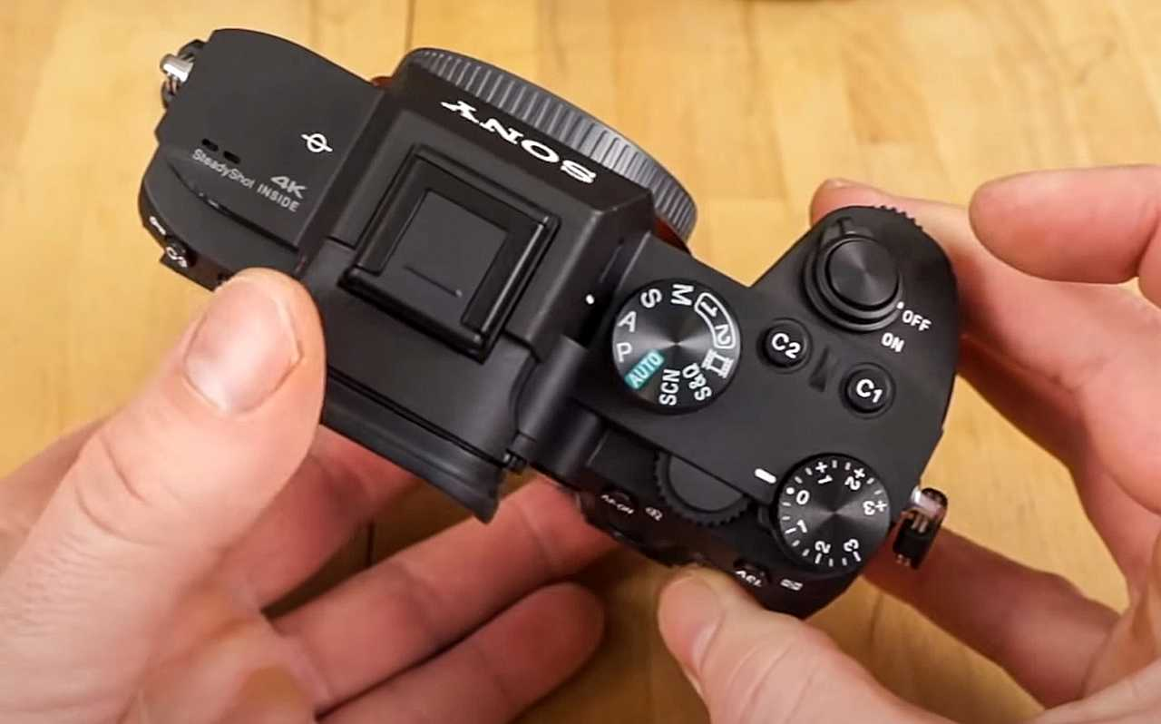 Sony A7 III top buttons for settings