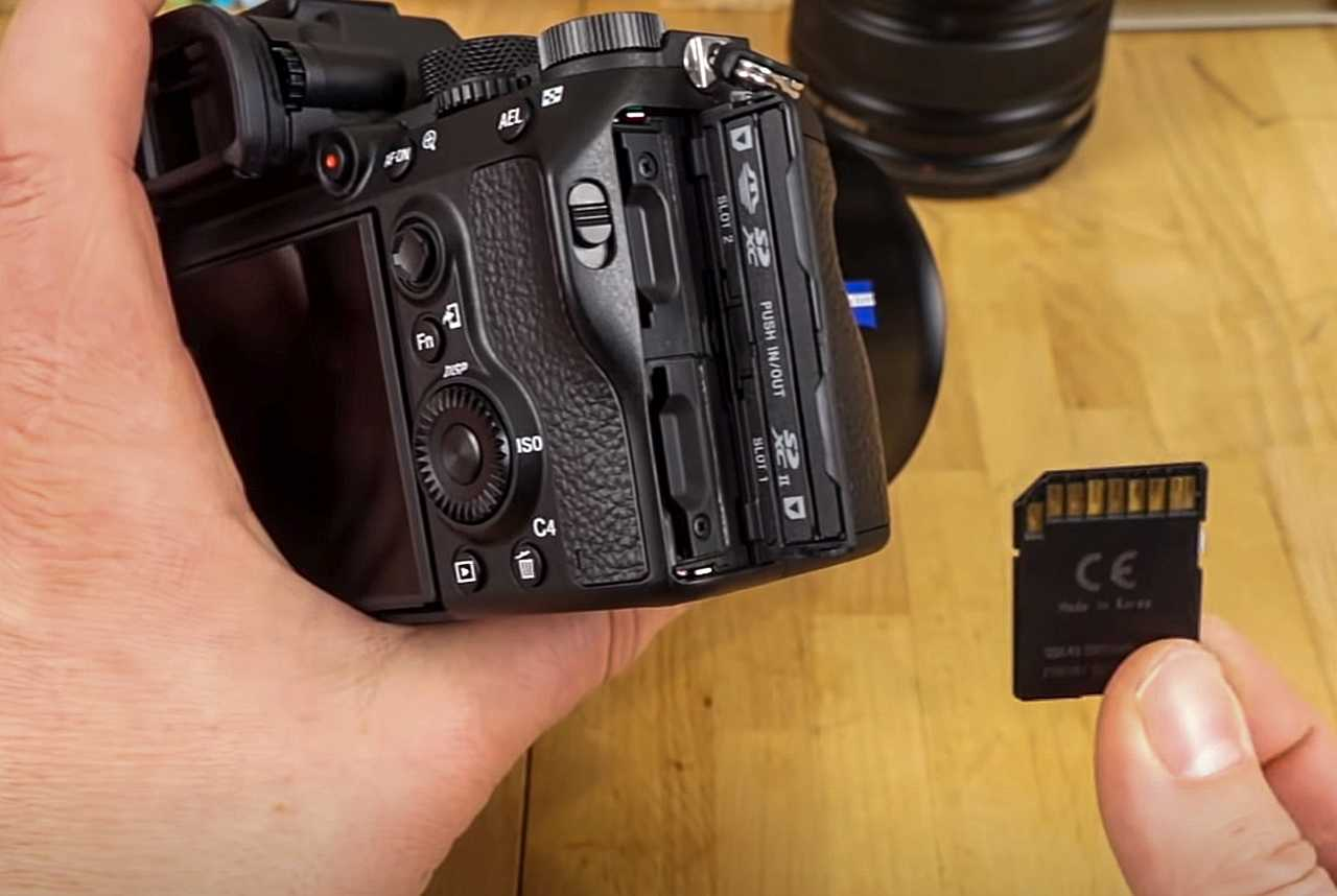 Sony A7 III with two slots for cards