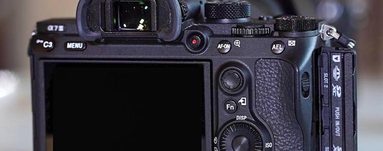 Sony A7III settings buttons and card slots