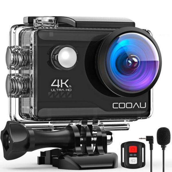 COOAU 4K 20MP Wi-Fi Action Camera