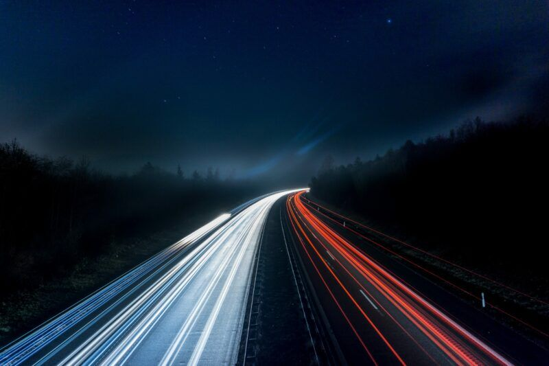 Traffic lights long exposure