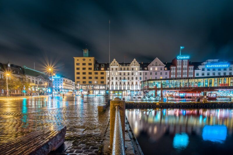 HDR photo in city night
