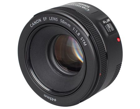 canon ef 50 mm lens view