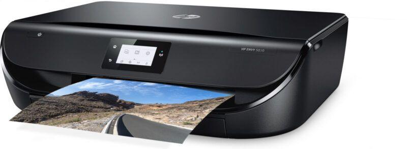HP ENVY 5030 printer side overview