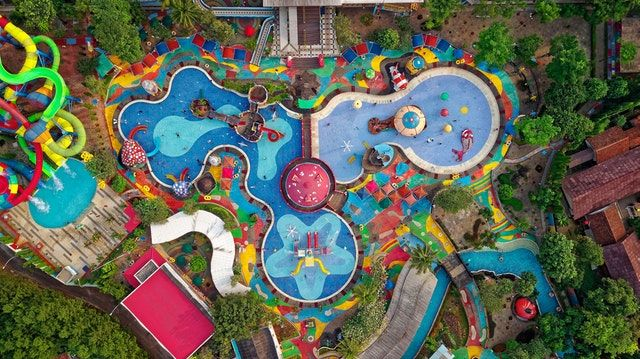 aerial photo water park