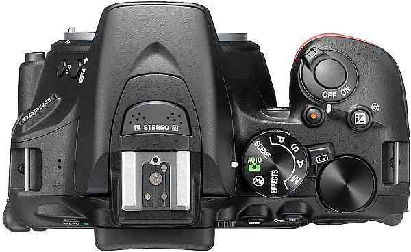 Nikon D5600 top view