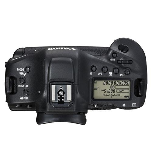 Canon EOS 1D X Mark II top view