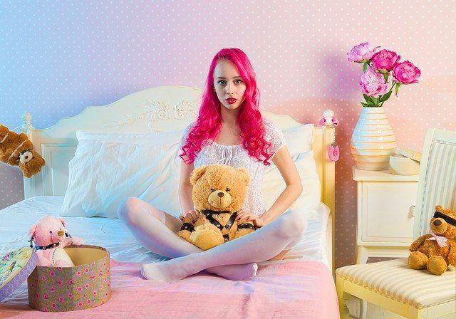 girl in her bedroom portrait