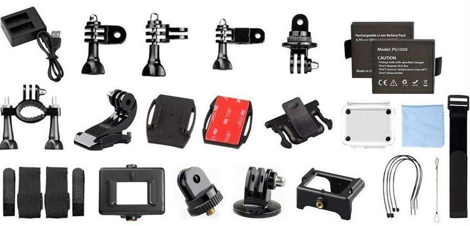 AKASO EK7000 accessories coming with camera box