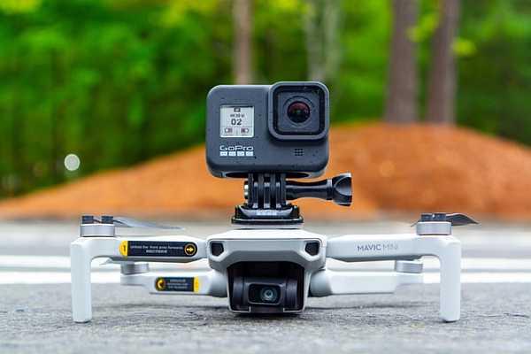 Action camera on Mavic Mini
