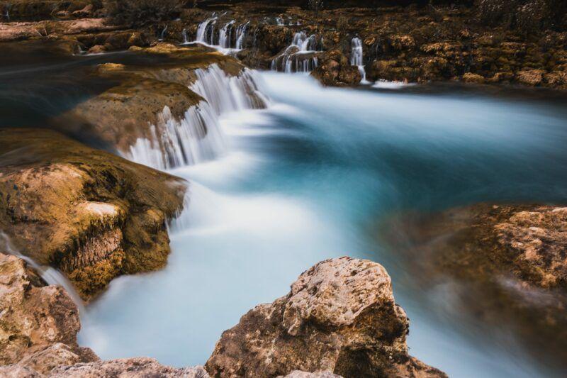 Low shutter speed waterfall image