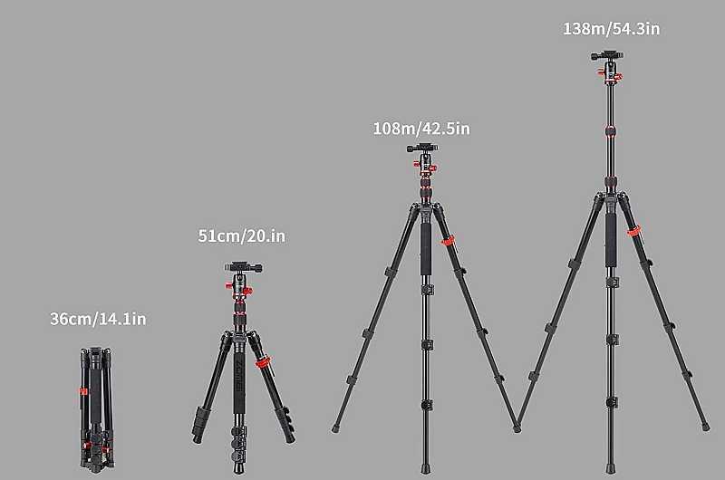 Zomei M5 tripod height