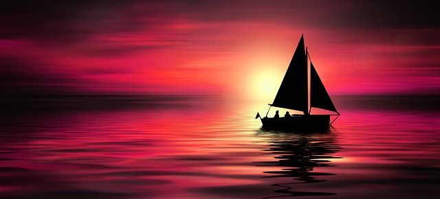 light shining on water