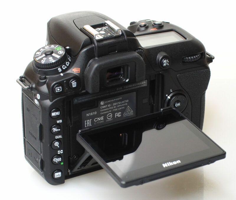 nikon d7500 display