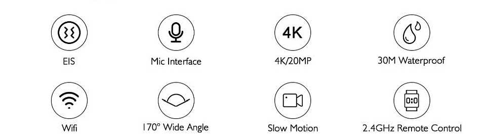 Dragon Touch 4K Camera features