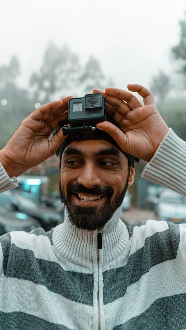 action camera hold on head