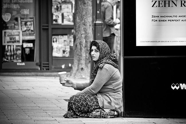 street photography person in trouble