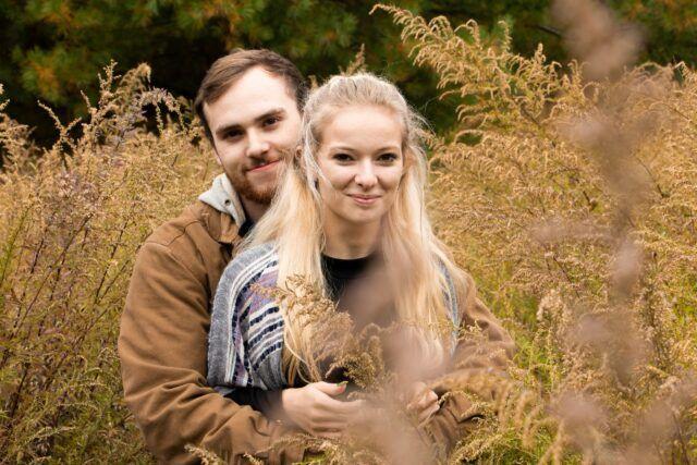 outdoor portrait couple