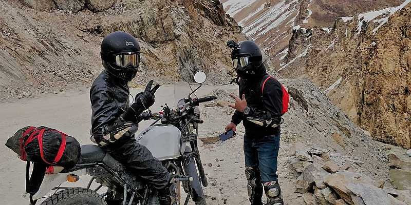 Action camera attached on helmet