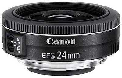 Canon EF-S 24 mm f2.8 STM camera lens
