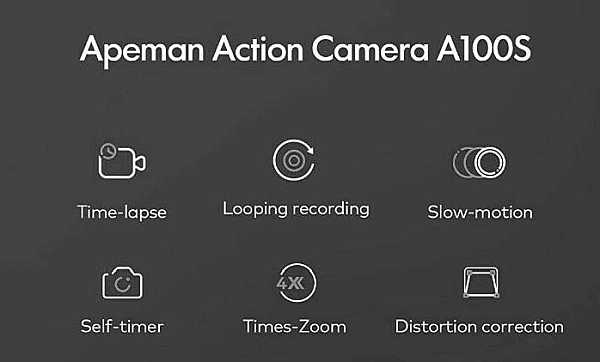 Apeman A100 features