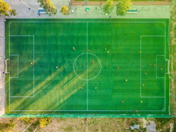 aerial photo football ground
