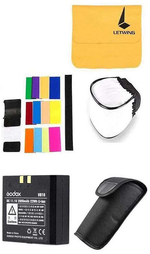 Godox V860II-C flash for Canon accessories