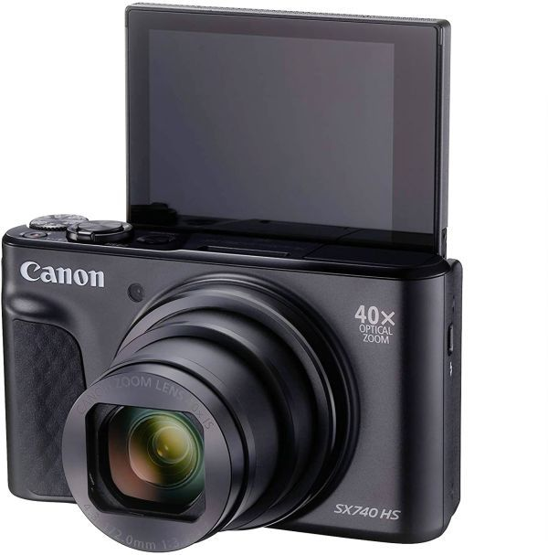 Canon SX740 HS display