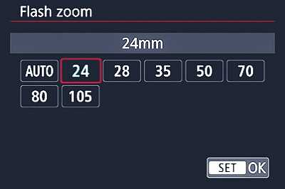 Flash zoom