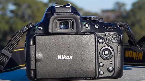 Nikon D5100 back view