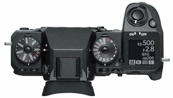 Fujifilm XH-1 camera top