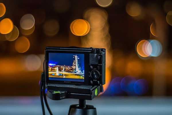 Sony camera on tripod