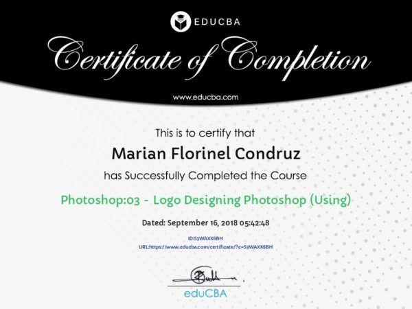 Logo Certifocate using Photoshop Marian Florinel Condruz