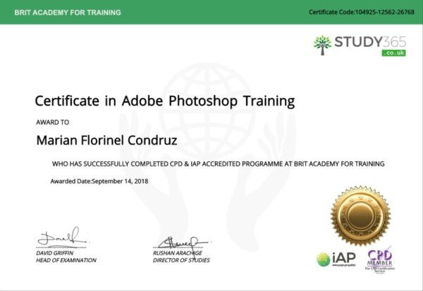 CPD - Accredietd Certificate Marian Florinel Condruz