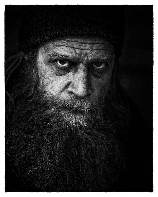 dramatic man portrait