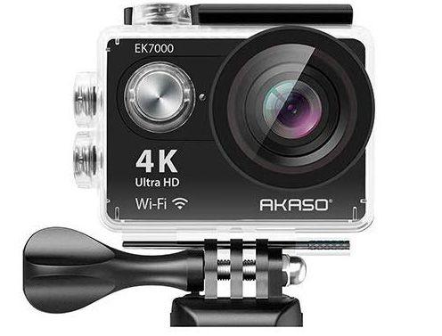 AKASO EK7000 close view with the camera