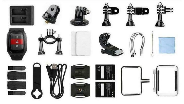 Akaso V50 Elite accessories coming with the camera