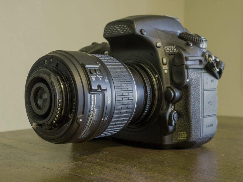 camera with reversed lens