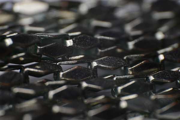 Macro of a rusty chain