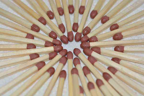 Matches close up image