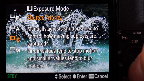 Sony ZV1 exposure