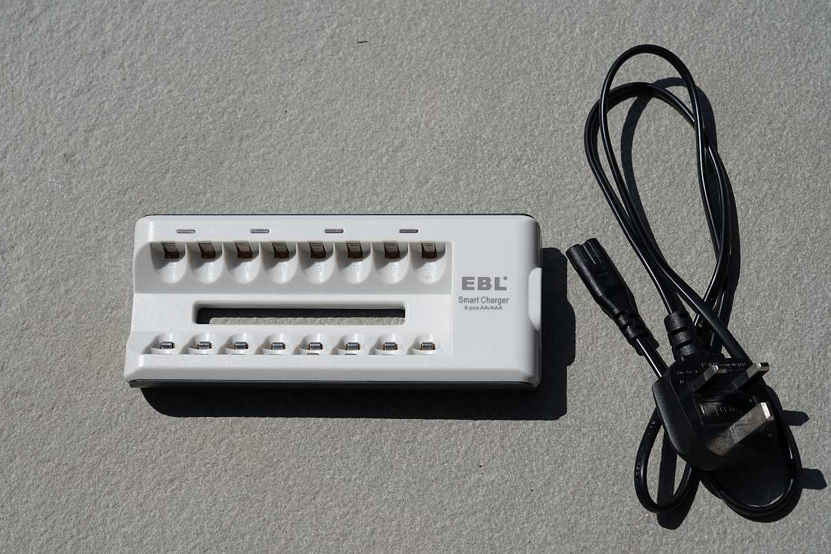 EBL charger with power cord