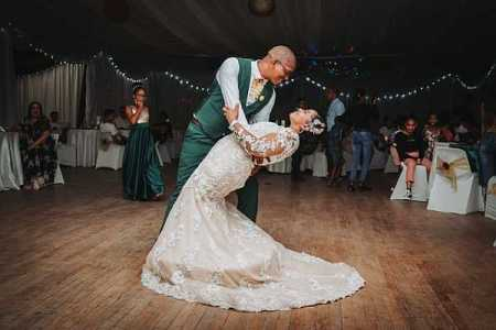 Wedding image with couple