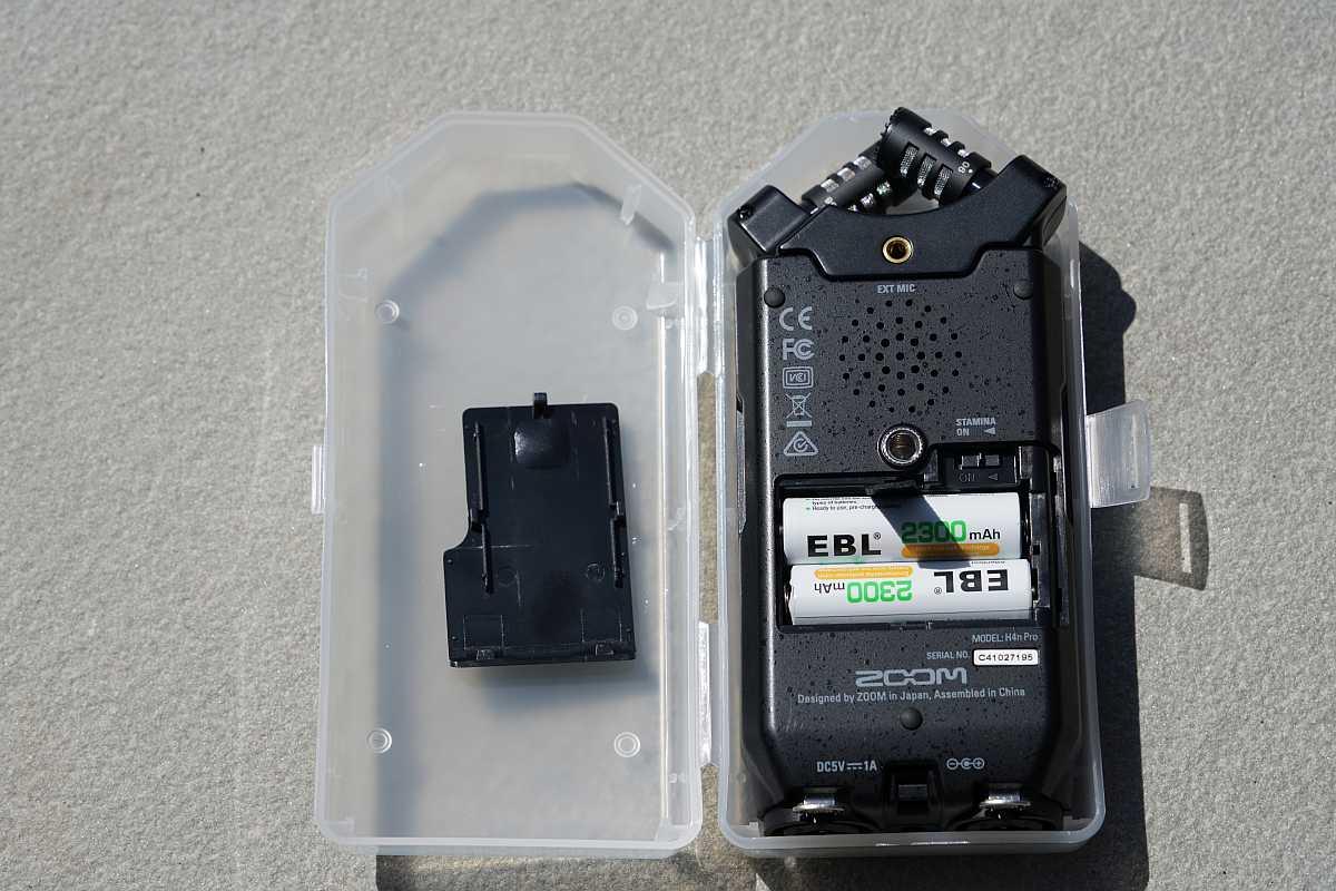 Zoom H4n Pro batteries