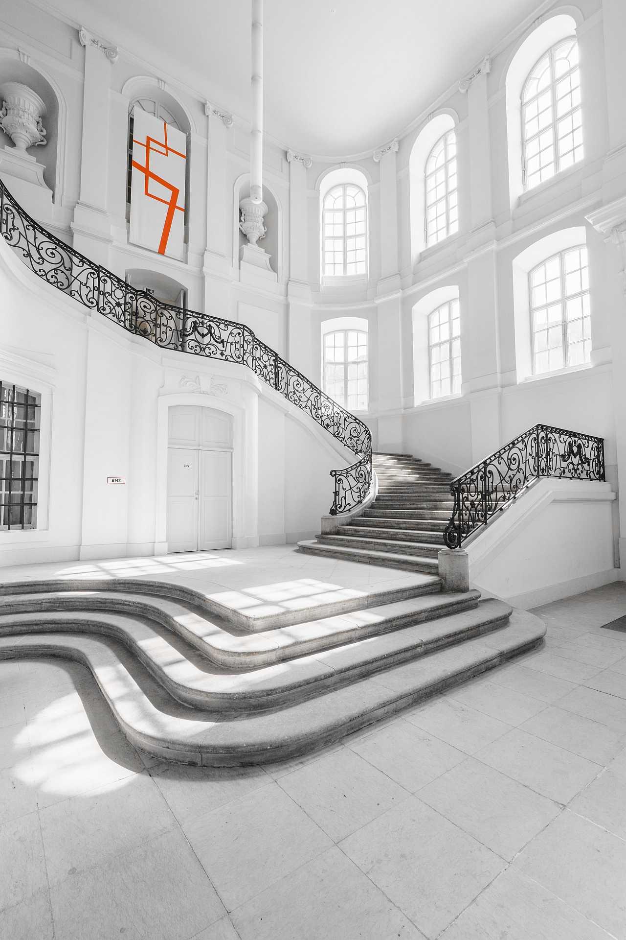 Inside a big house