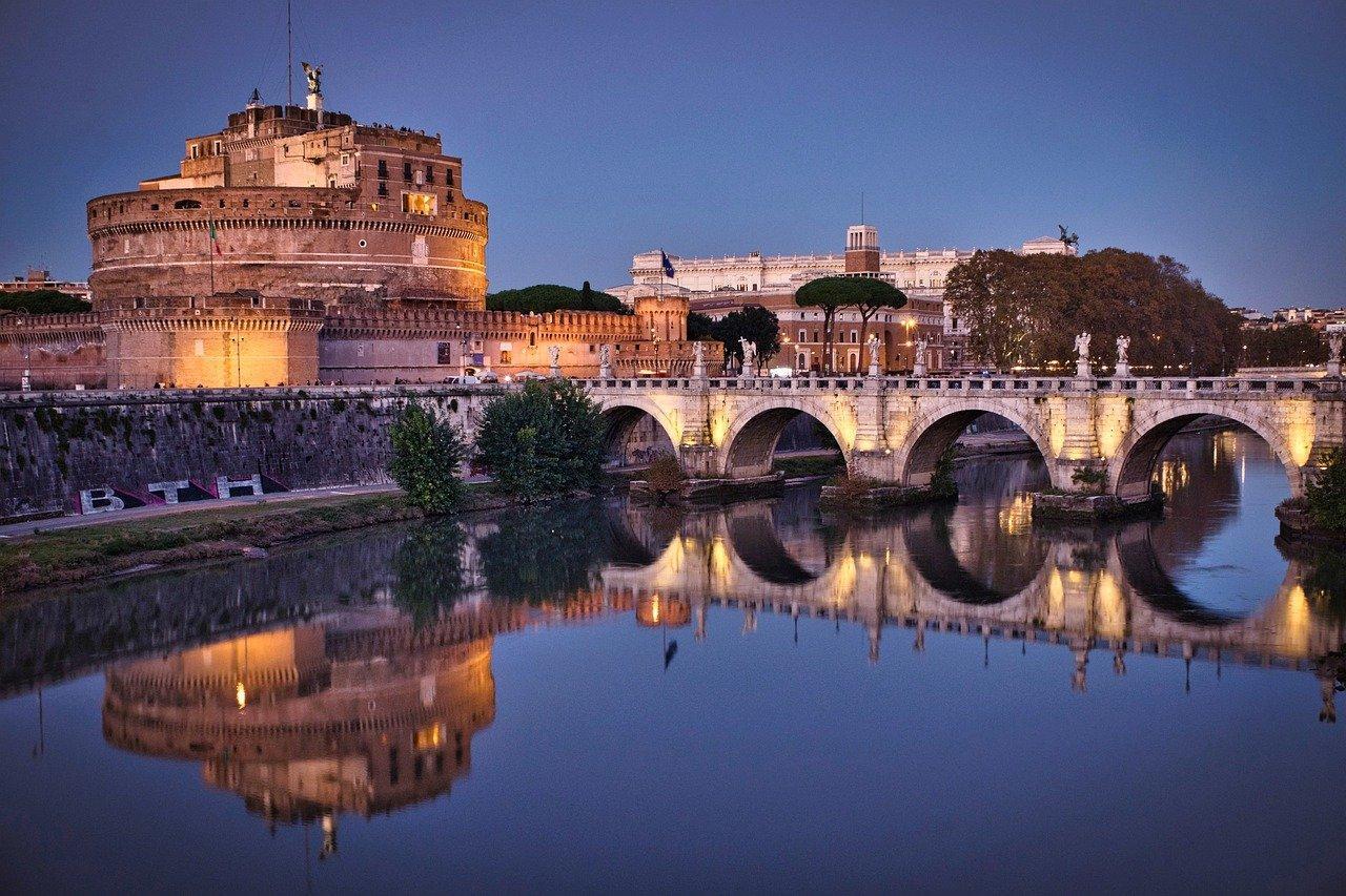 Rome blue hour view
