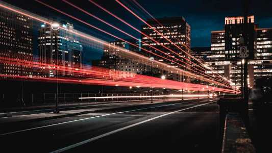 Shoot of a bus with long shutter speed
